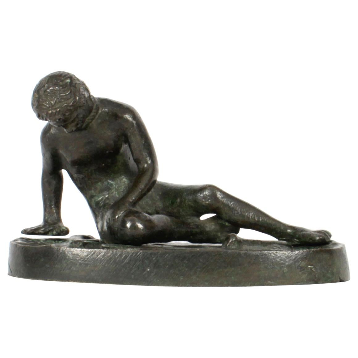 Antique Italian Grand Tour Bronze Sculpture of The Dying Gaul 19th C