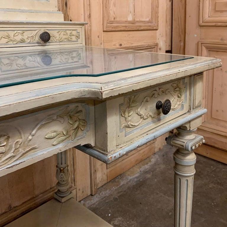 Antique Italian Louis XVI Painted Vanity For Sale 6
