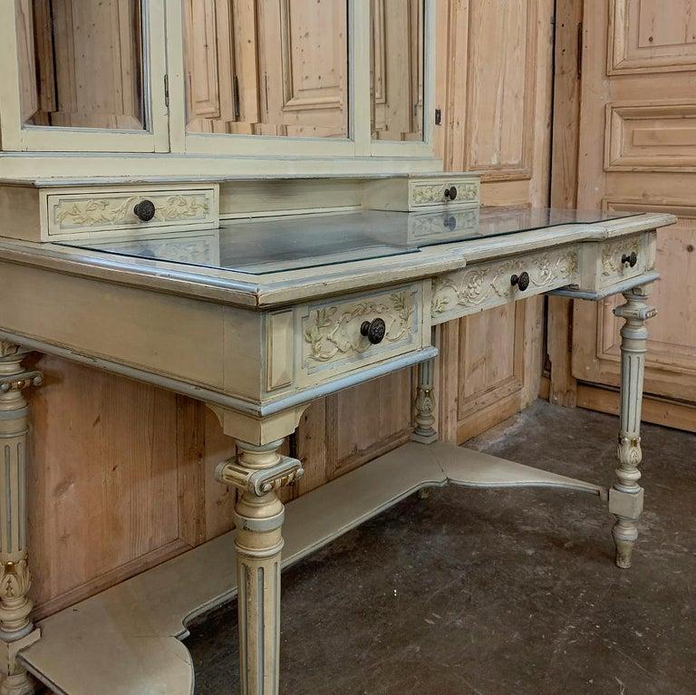 Antique Italian Louis XVI Painted Vanity For Sale 1