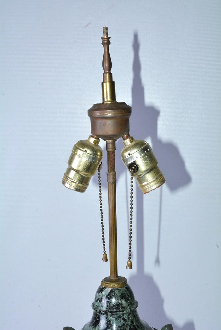 Antique Italian Marble and Bronze-Mounted Table Lamp For Sale 1
