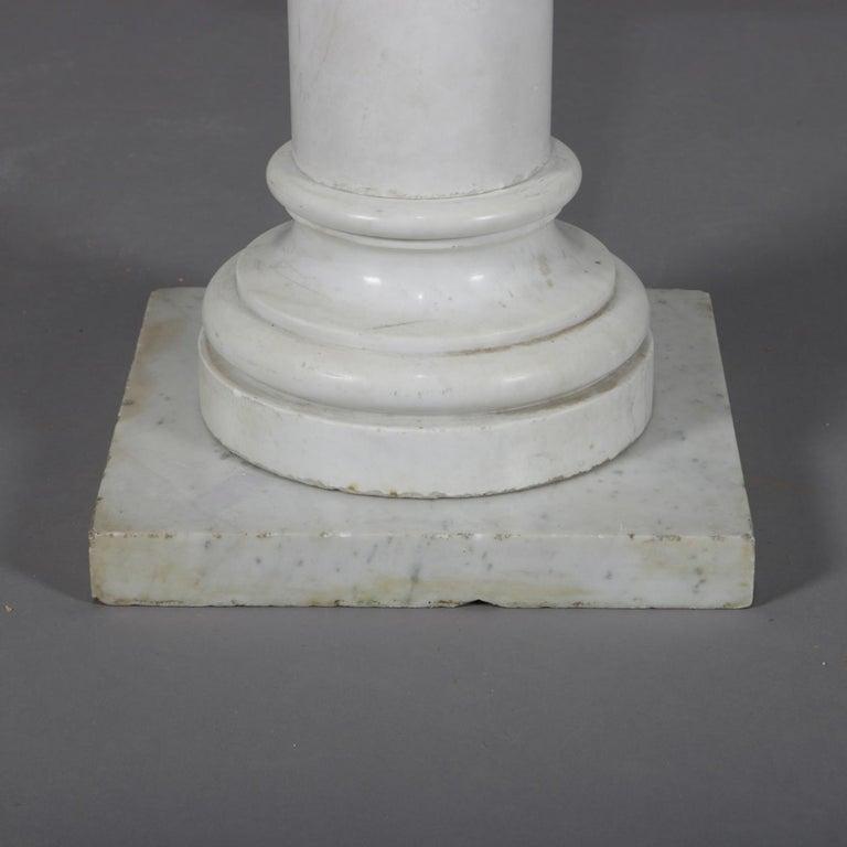 19th Century Antique Italian Marble Corinthian Column Sculpture Display Pedestal, circa 1890 For Sale