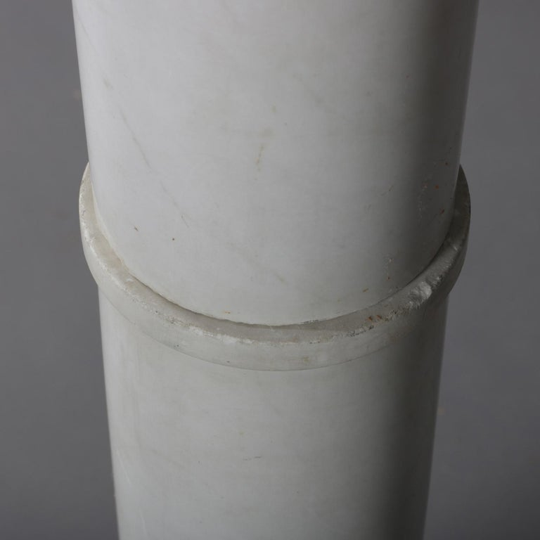 Antique Italian Marble Corinthian Column Sculpture Display Pedestal, circa 1890 For Sale 3