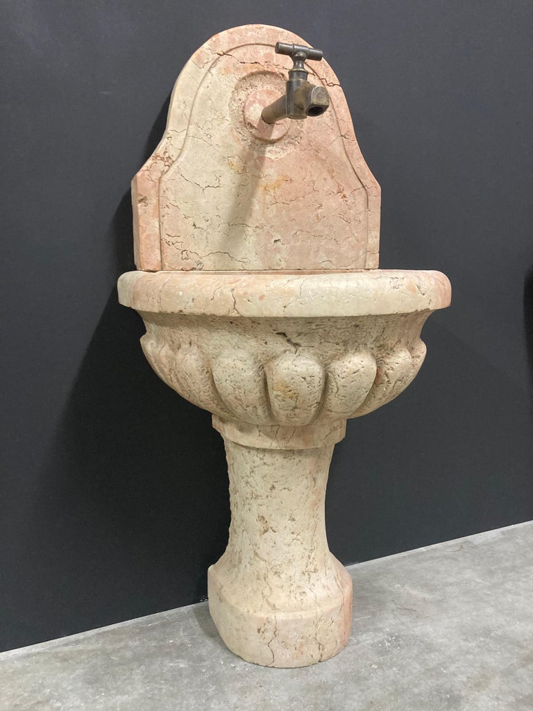 Stone Antique Italian Marble Fountain For Sale