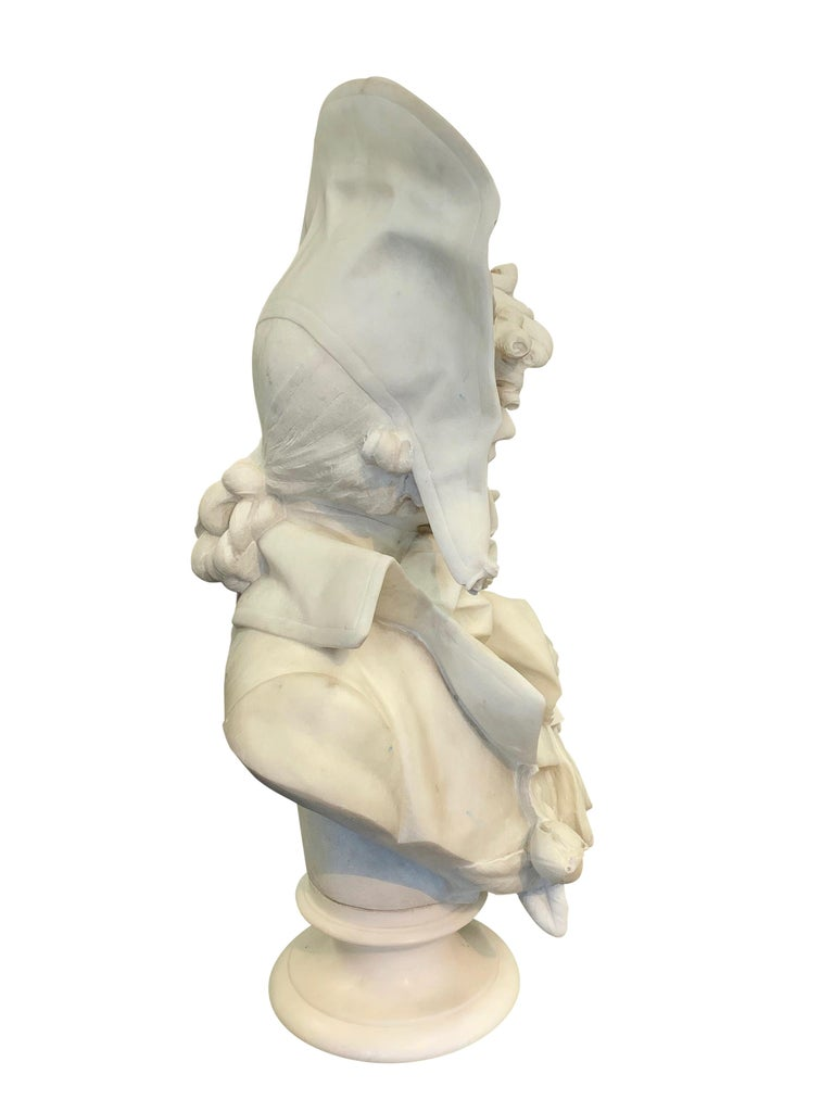 Early 20th Century Antique Italian marble sculpture of a smiling lady by Ferdinando Vichi
