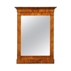 Antique Italian Neoclassical Burl wood Frame Mirror