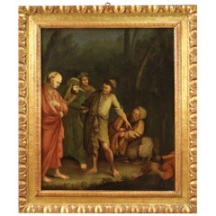 Antique Italian Oil Painting on Canvas from the 18th Century