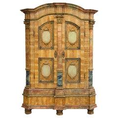 Antique Italian Painted Armoire