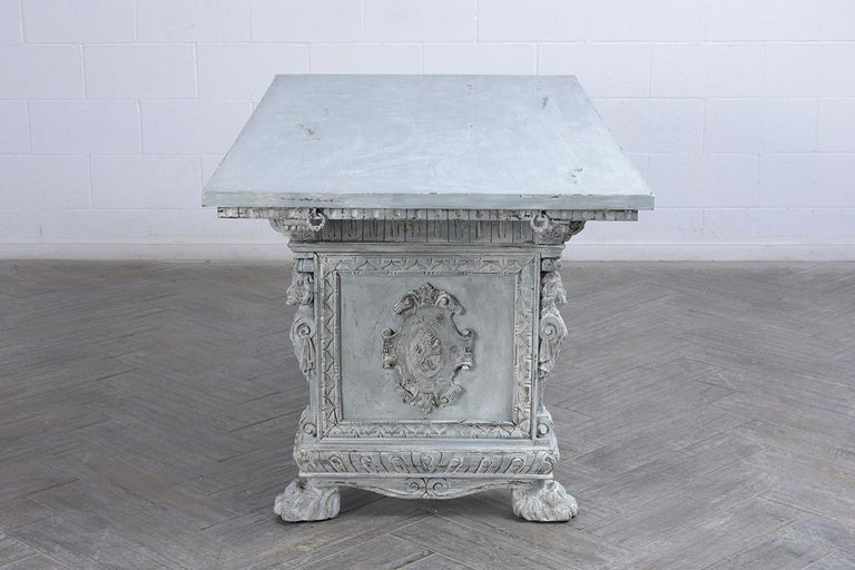 Renaissance Antique Italian Painted Dining Table For Sale