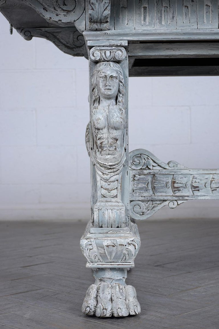 Early 20th Century Antique Italian Painted Dining Table For Sale