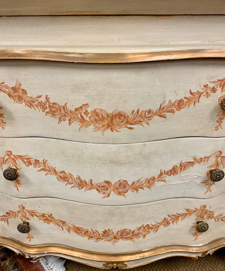 Antique Italian Painted Secretary Desk Bookcase For Sale 4