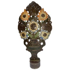 Antique Italian Painted Tole Table Lamp