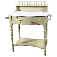 Antiker italienischer gemalter Waschtisch, Schminktisch