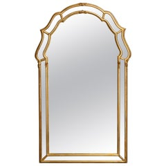Antique Italian Parclose Giltwood Wall Mirror, 20th Century