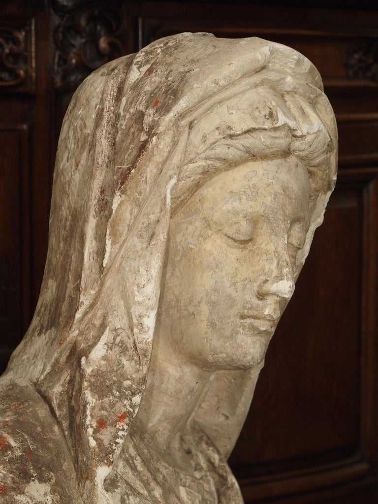 Antique Italian Plaster Bust of a Woman, circa 1890 For Sale 3