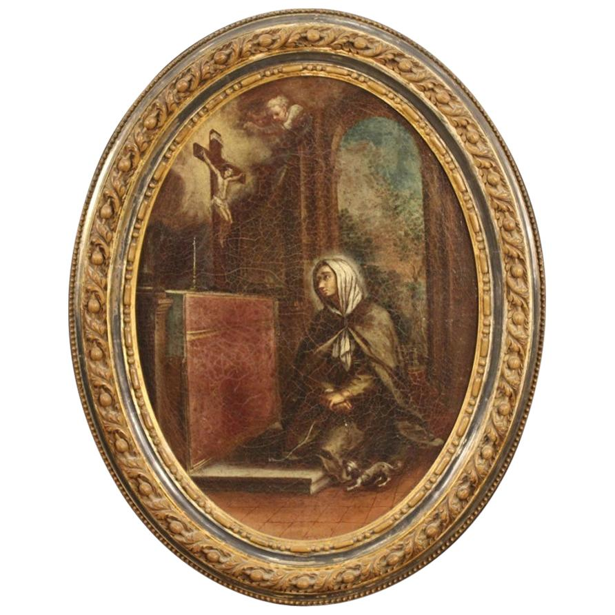 Antique Italian Religious Painting from the 18th Century