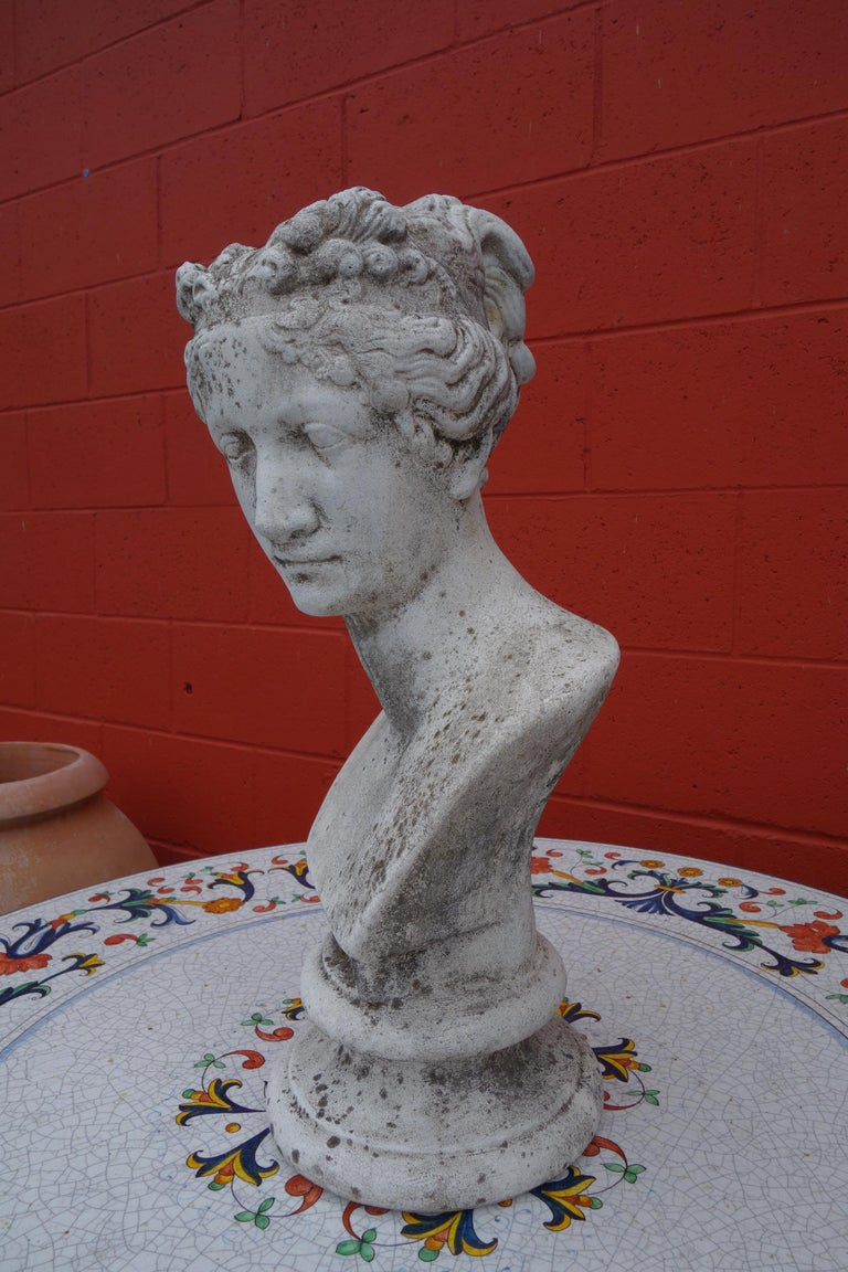 Cast 19th Century Italian Renaissance Style Bust of Venus Goddess of Love and Victory For Sale