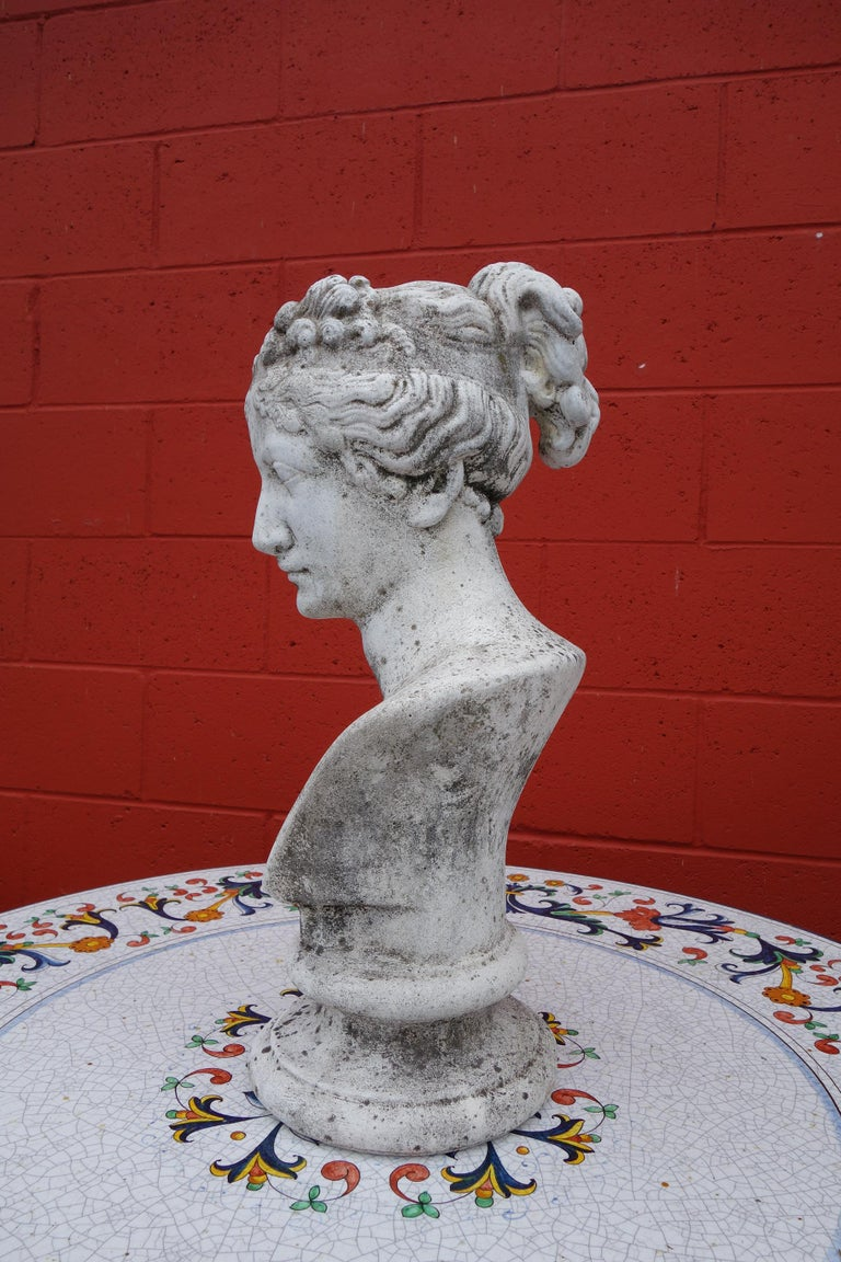 19th Century Italian Renaissance Style Bust of Venus Goddess of Love and Victory In Good Condition For Sale In Encinitas, CA