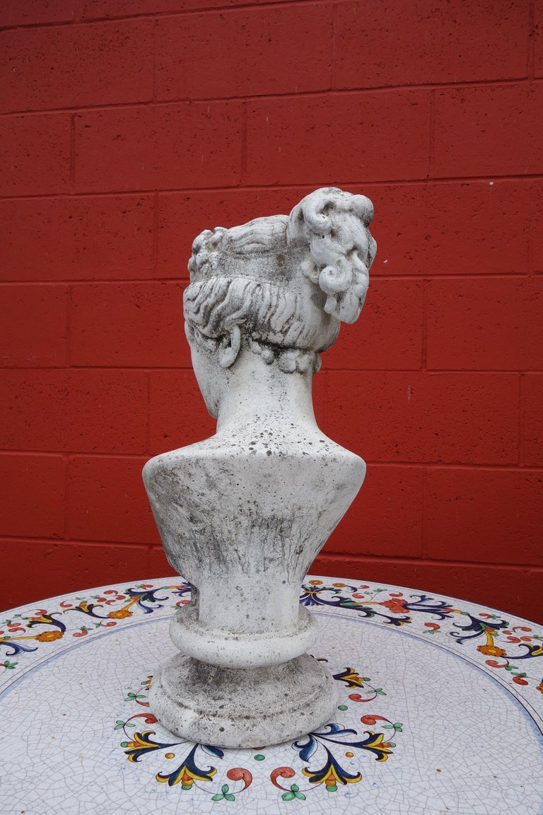 Cement 19th Century Italian Renaissance Style Bust of Venus Goddess of Love and Victory For Sale