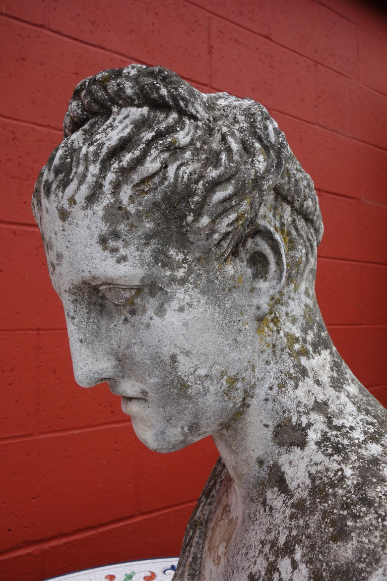 19th Century Italian Renaissance Style Hermes Bust in Grisaglia from Lake Como For Sale 5