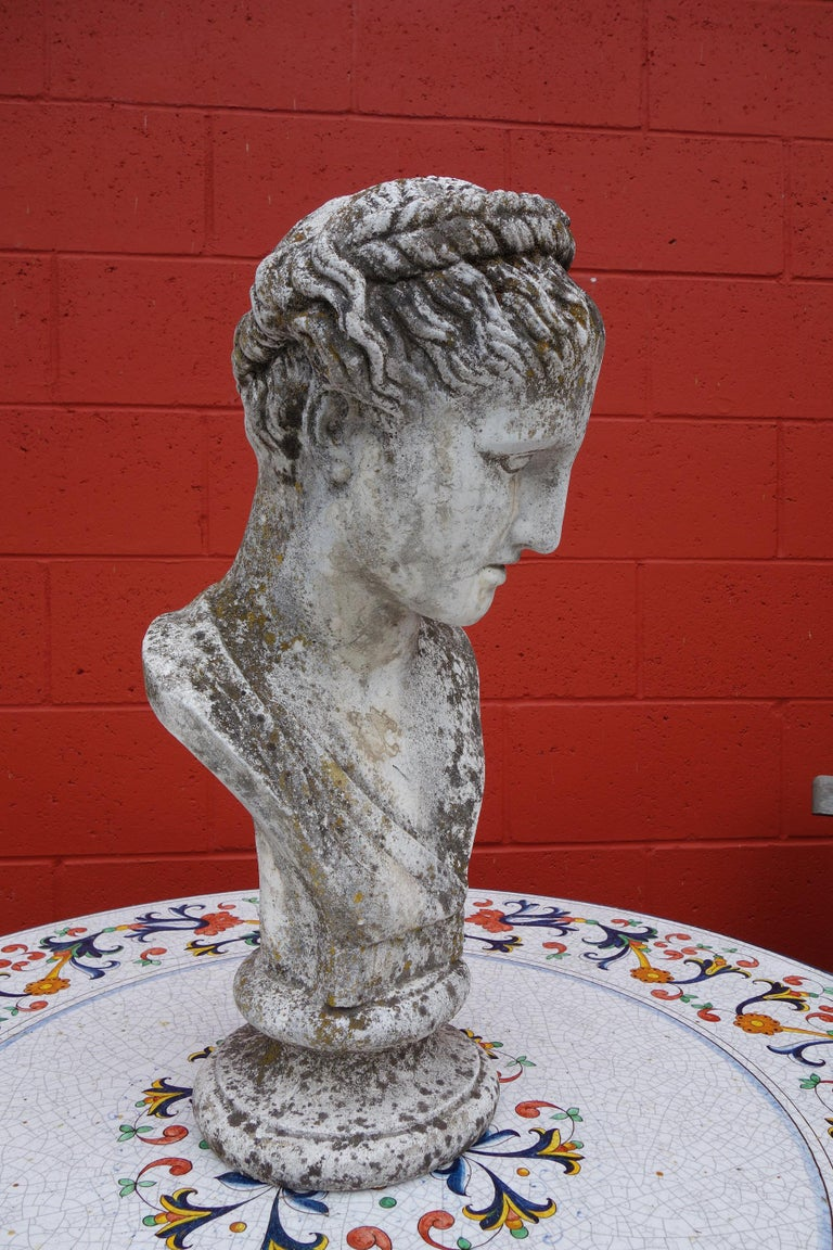 19th Century Italian Renaissance Style Hermes Bust in Grisaglia from Lake Como In Good Condition For Sale In Encinitas, CA