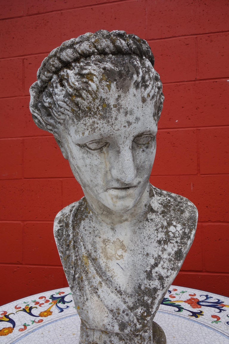 19th Century Italian Renaissance Style Hermes Bust in Grisaglia from Lake Como For Sale 1