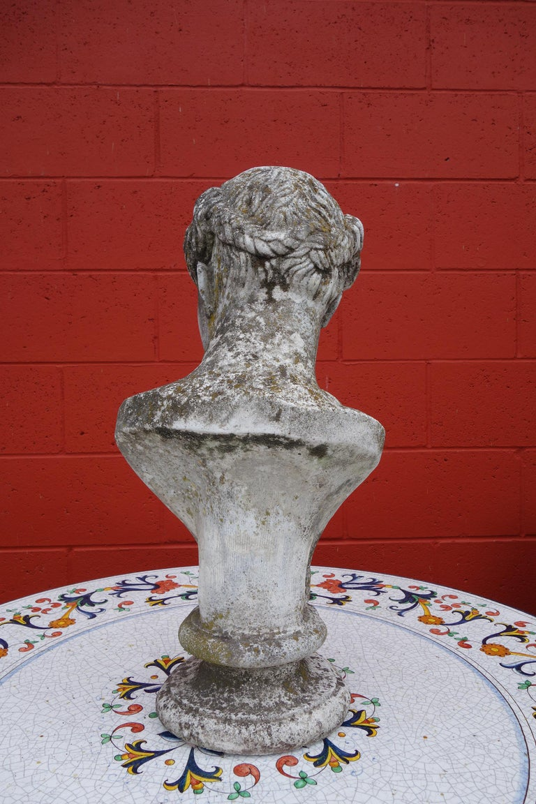 19th Century Italian Renaissance Style Hermes Bust in Grisaglia from Lake Como For Sale 2