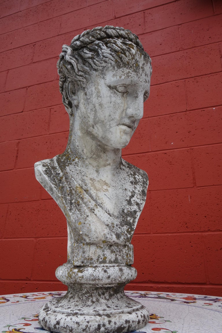 19th Century Italian Renaissance Style Hermes Bust in Grisaglia from Lake Como For Sale 3