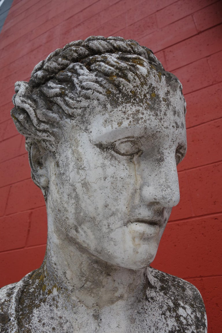 19th Century Italian Renaissance Style Hermes Bust in Grisaglia from Lake Como For Sale 4