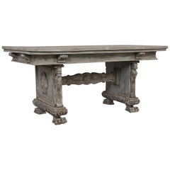 Antique Italian Renaissance-Style Trestle Table