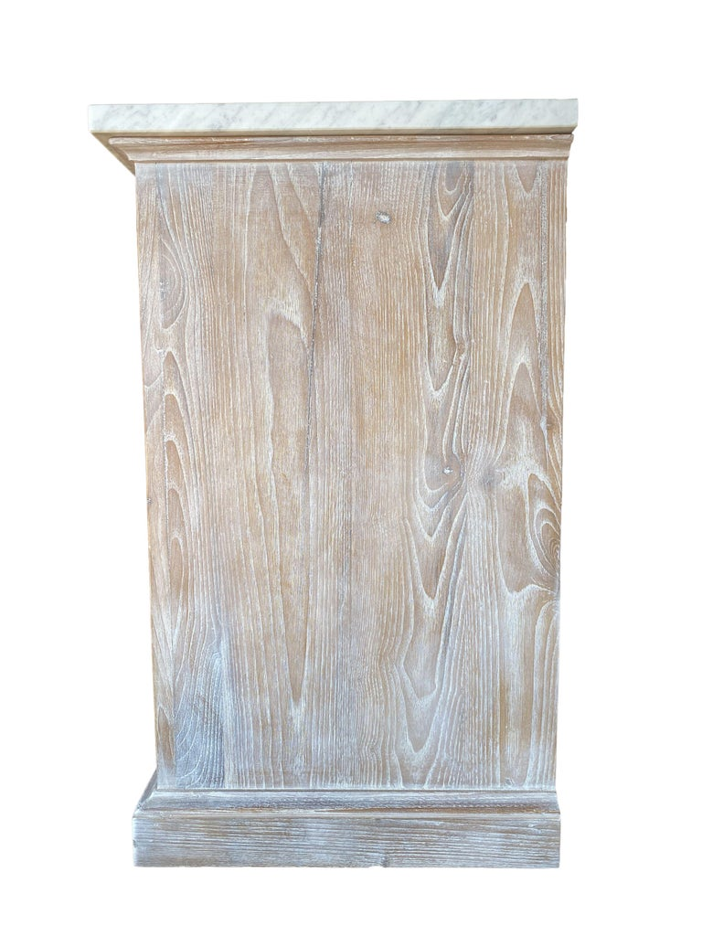 Mediterranean ALPI Handcrafted Credenza with Dolomiti Finish & Carrara Marble In New Condition For Sale In Encinitas, CA