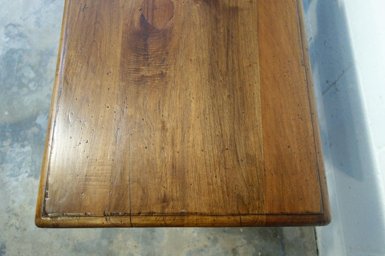 17th Century Style Italian Refectory Old Walnut Coffee Table with Single Drawer For Sale 9