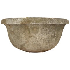 Italian Rustic Style Handcrafted Stone Sink Basin Circa 1905