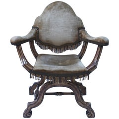 Antique Italian Savonarola Armchair