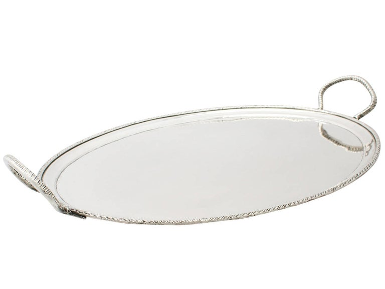Antique Italian Silver Tea Tray In Excellent Condition For Sale In Jesmond, Newcastle Upon Tyne