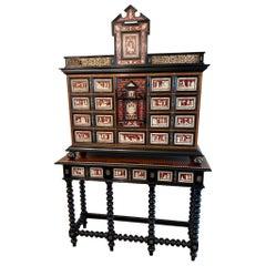 Antique Italian Specimen/Curiosity Cabinet