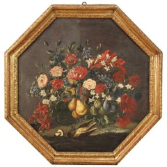 Antique Italian Still Life Painting from the 18th Century