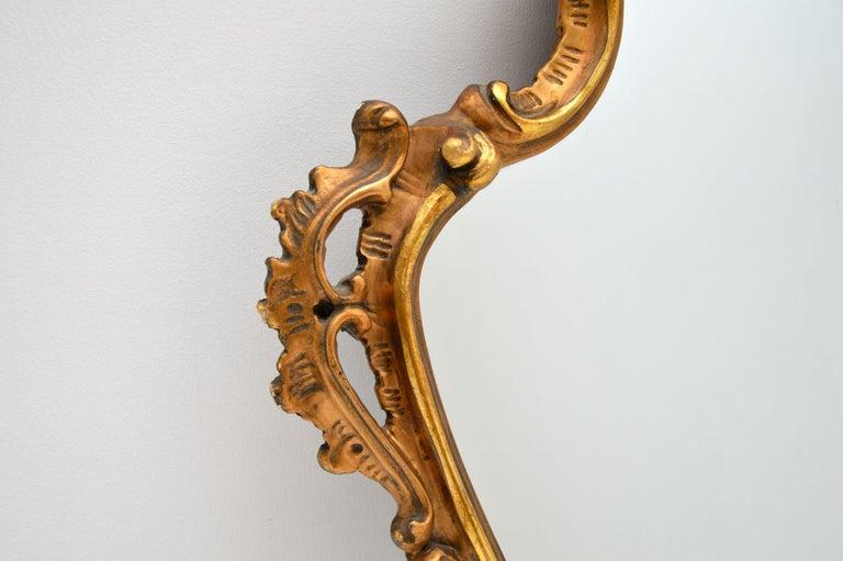 Mid-20th Century Antique Italian Style Gilt Wood Mirror For Sale