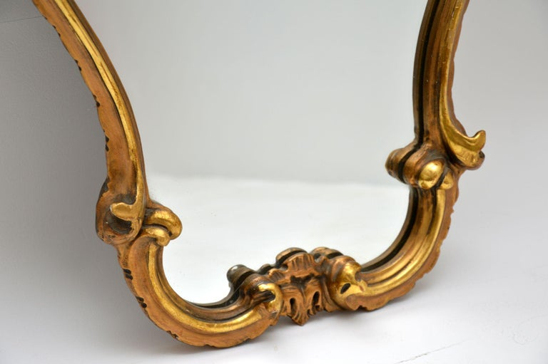 Antique Italian Style Gilt Wood Mirror For Sale 1