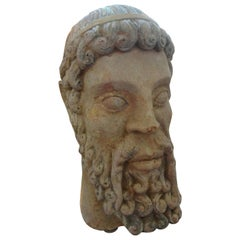 Antique Italian Terracotta Bust of a Greco, Roman