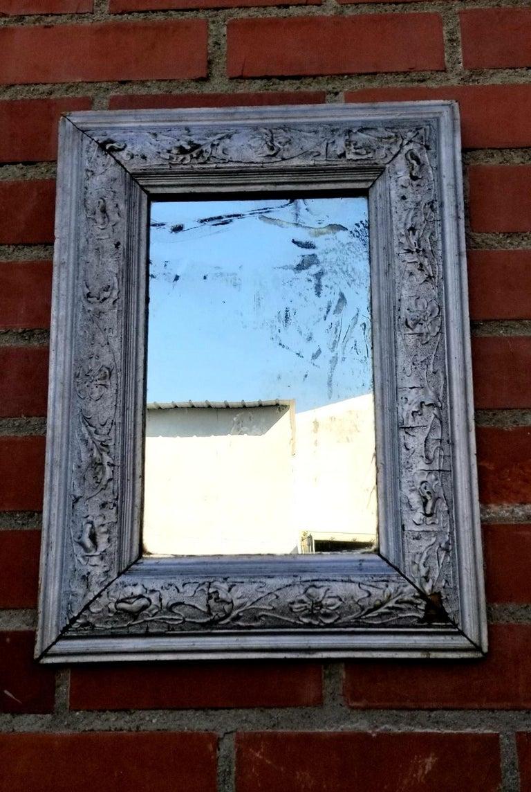 Campaign Antique Italian Wall Mirror For Sale