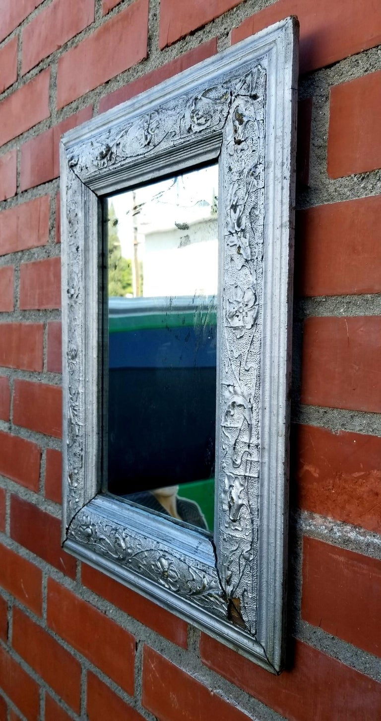Antique Italian Wall Mirror In Distressed Condition For Sale In Los Angeles, CA