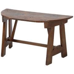 Antique Italian Walnut Console Table, circa 1700s