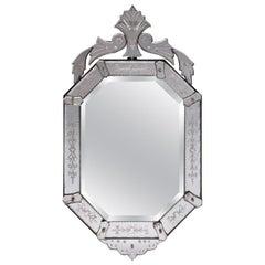 Antique Italy Venetian Mirror