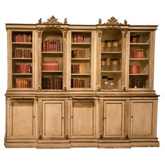 Antique Ivory and Gilded Lacquered Pharmacy or Library, Late 19th Century, Italy