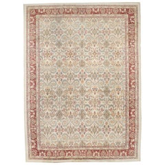 Antique Ivory Background Indian All-Over Design Amritsar Rug