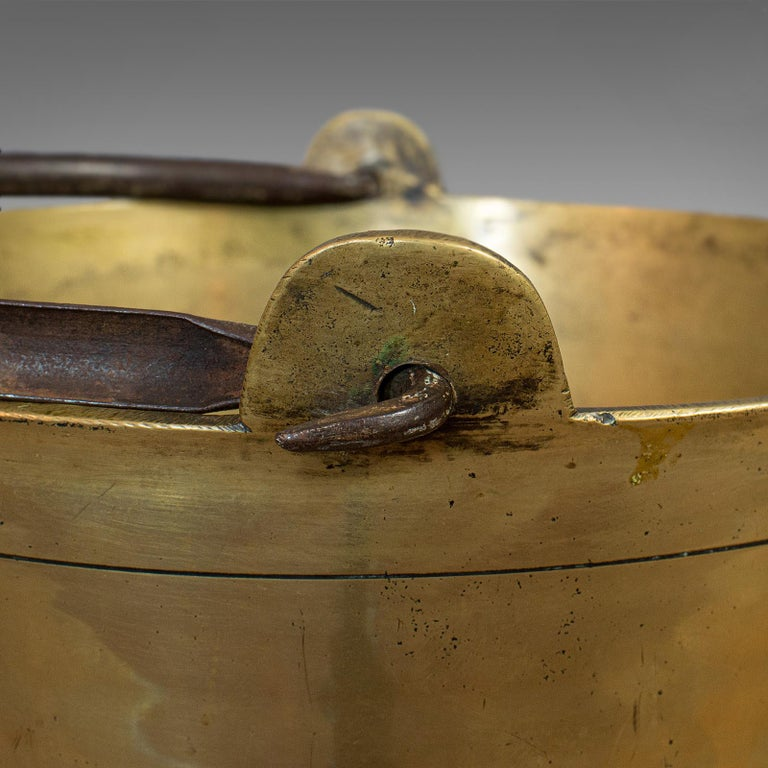 Antique Jam Pan, French, Solid Brass, Artisan Kitchen Pot, Victorian, circa 1900 For Sale 6