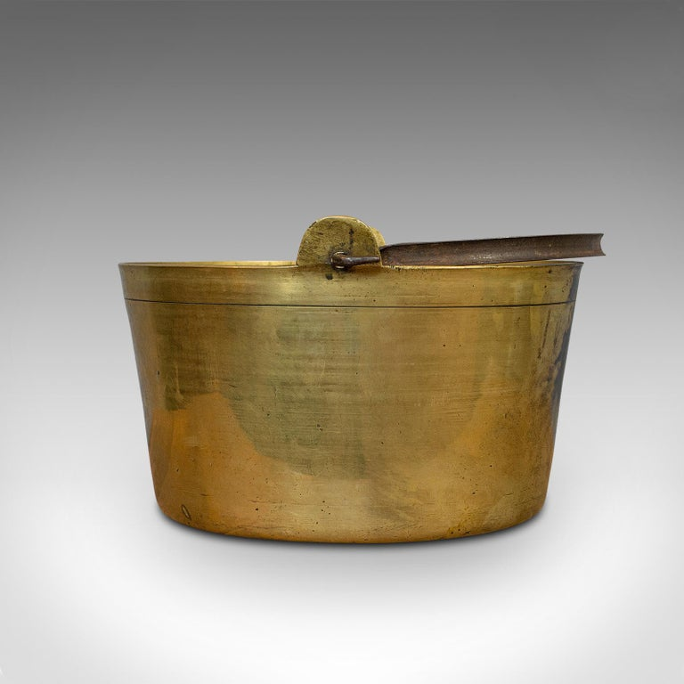 Antique Jam Pan, French, Solid Brass, Artisan Kitchen Pot, Victorian, circa 1900 For Sale 1
