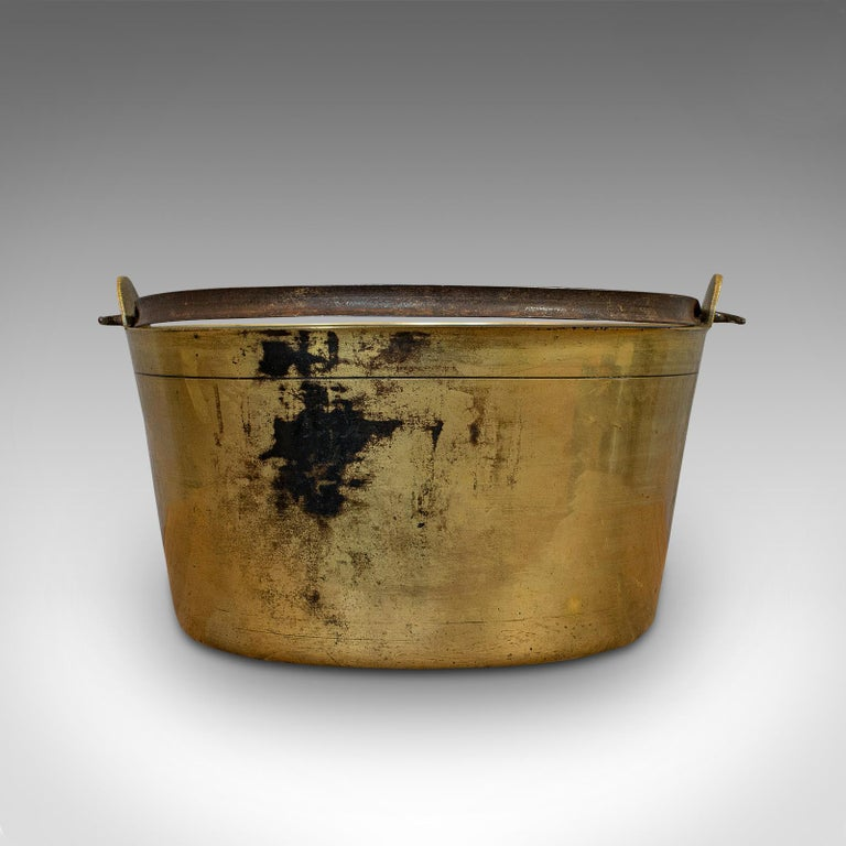 Antique Jam Pan, French, Solid Brass, Artisan Kitchen Pot, Victorian, circa 1900 For Sale 2