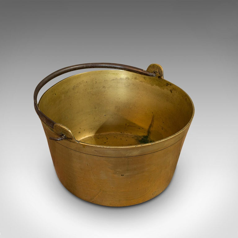 Antique Jam Pan, French, Solid Brass, Artisan Kitchen Pot, Victorian, circa 1900 For Sale 3