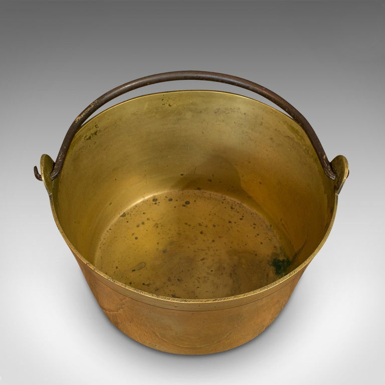 Antique Jam Pan, French, Solid Brass, Artisan Kitchen Pot, Victorian, circa 1900 For Sale 4